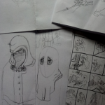 Skizzen für Comic